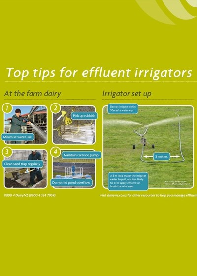Top Tips For Effluent Irrigators Poster