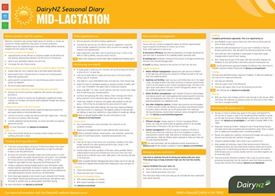 Seasonal Diary Mid Lactation