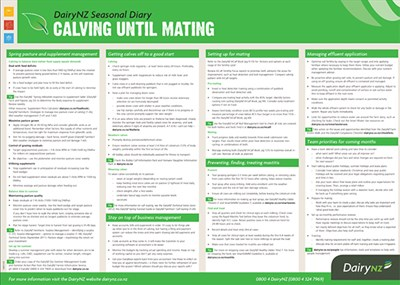 Seasonal Diary Calving Until Mating