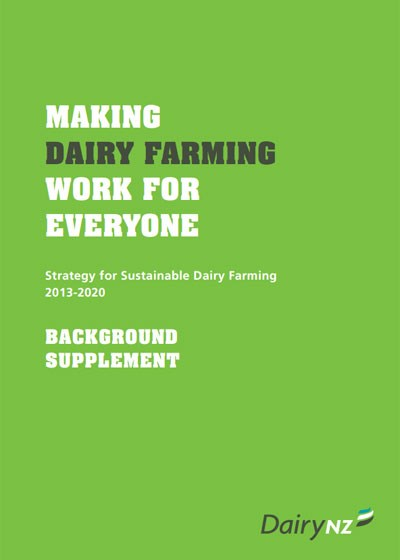Strategy For Sustainable Dairy Farming Background Supplement