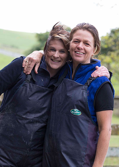 Calf rearers Allie Wright and Tracy Brown know the value of good team work and healthy calves.