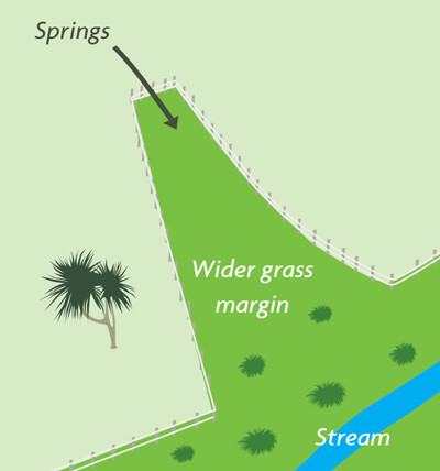 Extend fenced area to include seeps, wetlands, swamps and springs