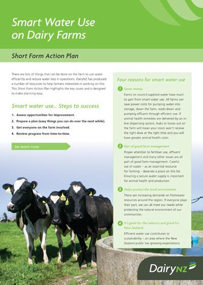 Smart Water Use - Short Form Action Plan