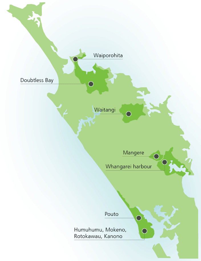 Northland Regional Council priority catchment areas