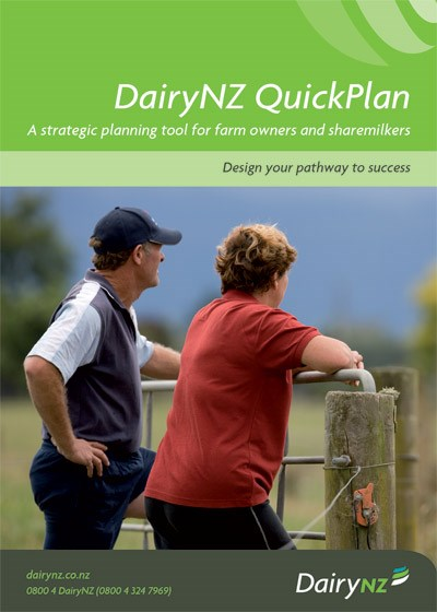 DairyNZ QuickPlan - for farm owners and sharemilkers