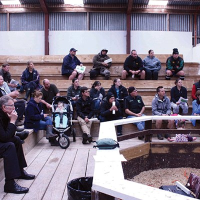 More than 50 farmers at the Hauraki Plains Focus Farm wrap up event.