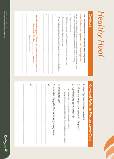 Healthy Hoof A2 Poster Contract and Rules