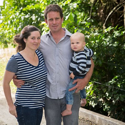 Tony and Briar Lunjevich with their son Abel.