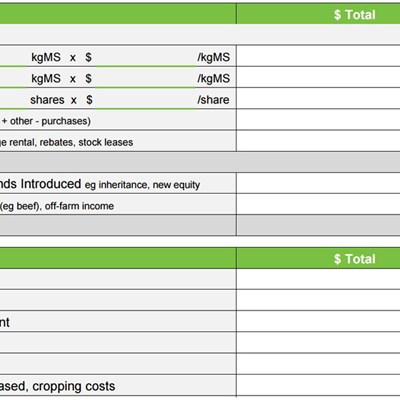 crop budget template - budgeting tools dairynz