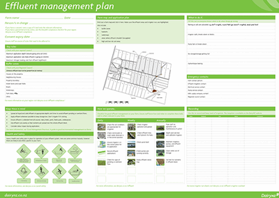 Effluent Management Plan Poster - DairyNZ