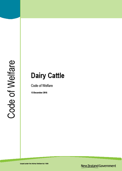 Dairy Cattle Code of Welfare 2014