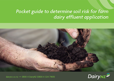 Pocket guide to determine soil risk for farm dairy effluent application