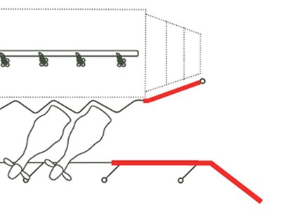 Have a lead in rail so 2-4 cows can line up facing forwards before the start of the milking bails.