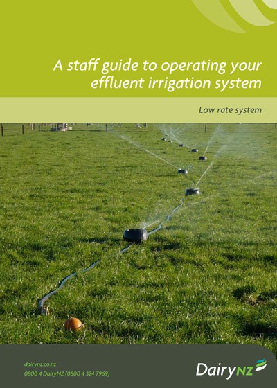 A Staff Guide To Operating Your Effluent Irrigation System Low Rate